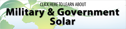 Military & Government Solar Applications